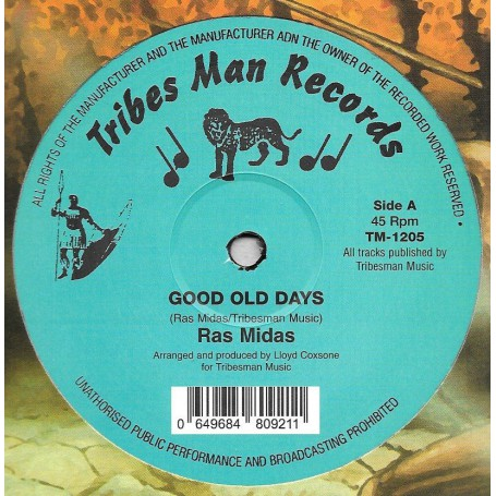 "(12"") RAS MIDAS - GOOD OLD DAYS / RAS MIDAS FEAT I ROY - GOOD OLD DUB"