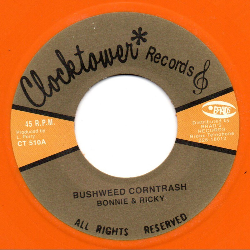"(7"") BUNNY & RICKY - BUSHWEED CORNTRASH / THE UPSETTERS - BRAD DRAW"