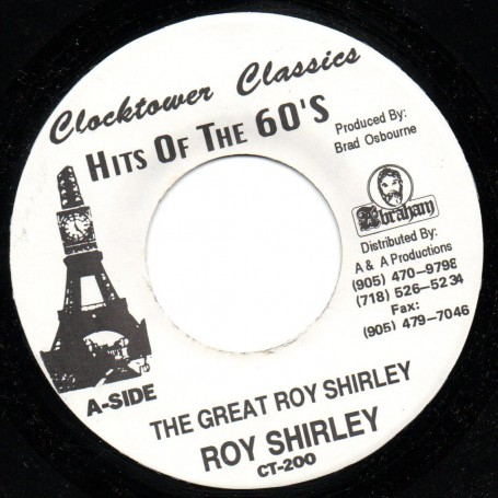 "(7"") ROY SHIRLEY - THE GREAT ROY SHIRLEY / HOLD THEM PLUS ONE"