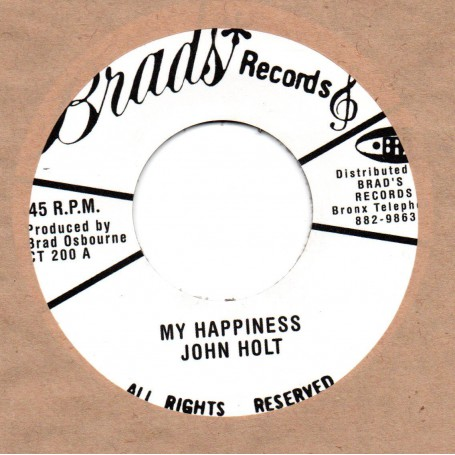 "(7"") JOHN HOLT - MY HAPPINESS / VERSION"