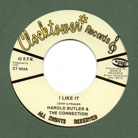 """(7"""") HAROLD BUTLER & THE CONNECTION - I LIKE IT / LIKE THIS DISCOMIX"""