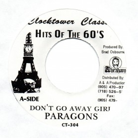 "(7"") PARAGONS - DON'T GO AWAY GIRL / AGGROVATORS - DON'T GO DUB"