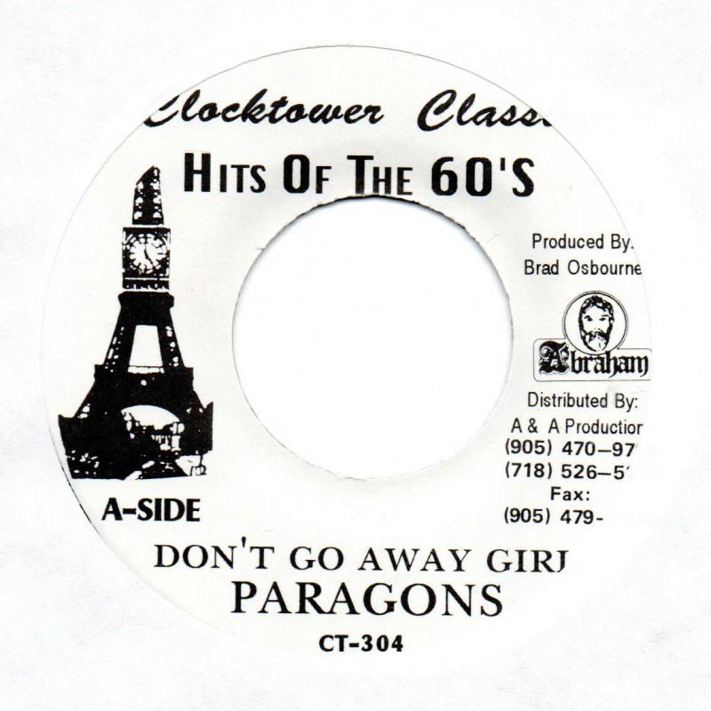 "(7"") PARAGONS - DON'T GO AWAY GIRL / AGGROVATORS - DON'T GO DUB"
