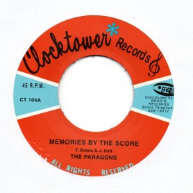 "(7"") THE PARAGONS - MEMORIES BY THE SCORE / MY NUMBER ONE"