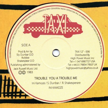 "(12"") INI KAMOZE - TROUBLE YOU A TROUBLE ME / DUB"