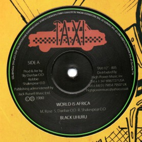"(12"") BLACK UHURU - WORLD IS AFRICA / SLY & ROBBIE - WORLDUS AFRICA DUB"