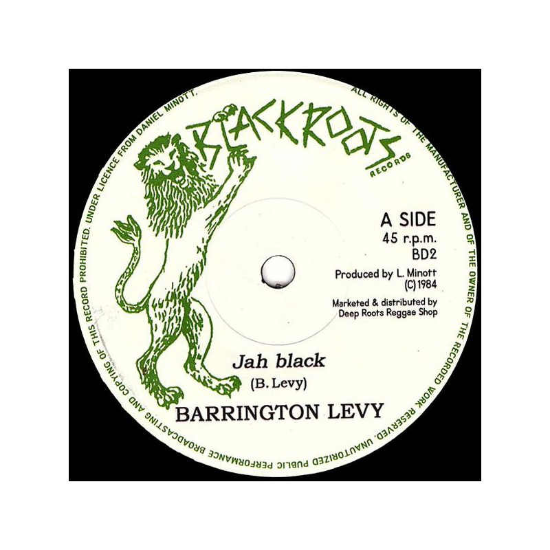 "(7"") BARRINGTON LEVY - JAH BLACK / DARBAZ BAND - DUB VERSION"