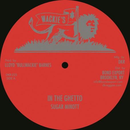 "(12"") SUGAR MINOTT - IN THE GHETTO / CALABASH & FOUR GENERATION BAND - ZION LAND"