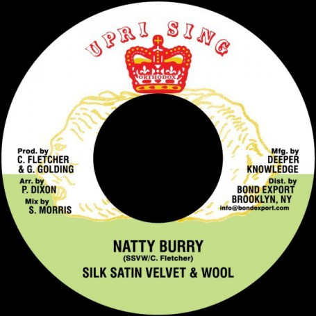 "(7"") SILK SATIN VELVET & WOOL (Carl Fletcher) - NATTY BURRY / ADVOCATES AGGREGATION - SATAN PICKNEY"