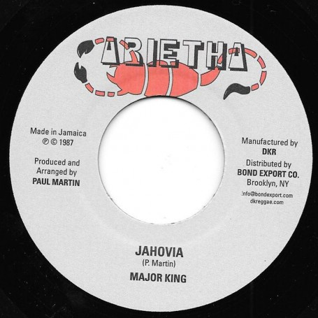 "(7"") MAJOR KING - JAHOVIA / JAHOVIA VERSION"