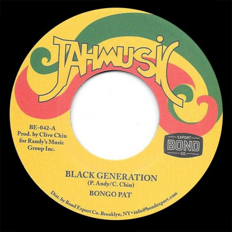 "(7"") BONGO PAT - BLACK GENERATION / IMPACT ALL STARS - GENERATION VERSION"