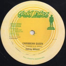 """(12"""") DELROY WILSON - CARIBBEAN QUEEN / INSTRUMENTAL"""
