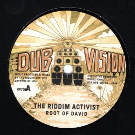 "(7"") THE RIDDIM ACTIVIST - ROOT OF DAVID / ROOT OF DUB"