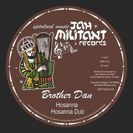 "(12"") BROTHER DAN & JAH MASSIVE ALL STARS - HOSANNA"