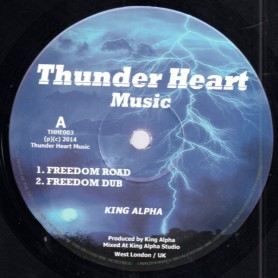 """(10"""") KING ALPHA - FREEDOM ROAD / HIDDEN MEANING"""