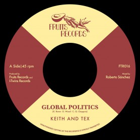 "(7"") KEITH & TEX - GLOBAL POLITICS / THE I-TWINS - I TAKE THE RISK"