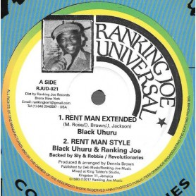 "(12"") BLACK UHURU - RENT MAN EXTENDED / SLY & ROBBIE - RENT MAN DUB WISE"