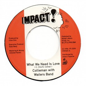 "(7"") COLLIEMAN WITH WAILERS BAND - WHAT WE NEED IS LOVE / UNLISTED FANATIC - WHAT WE NEED IS DUB"