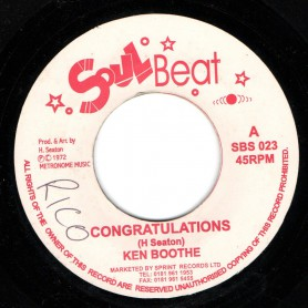 "(7"") KEN BOOTHE - CONGRATULATIONS / CONSCIOUS MINDS - VERSION"