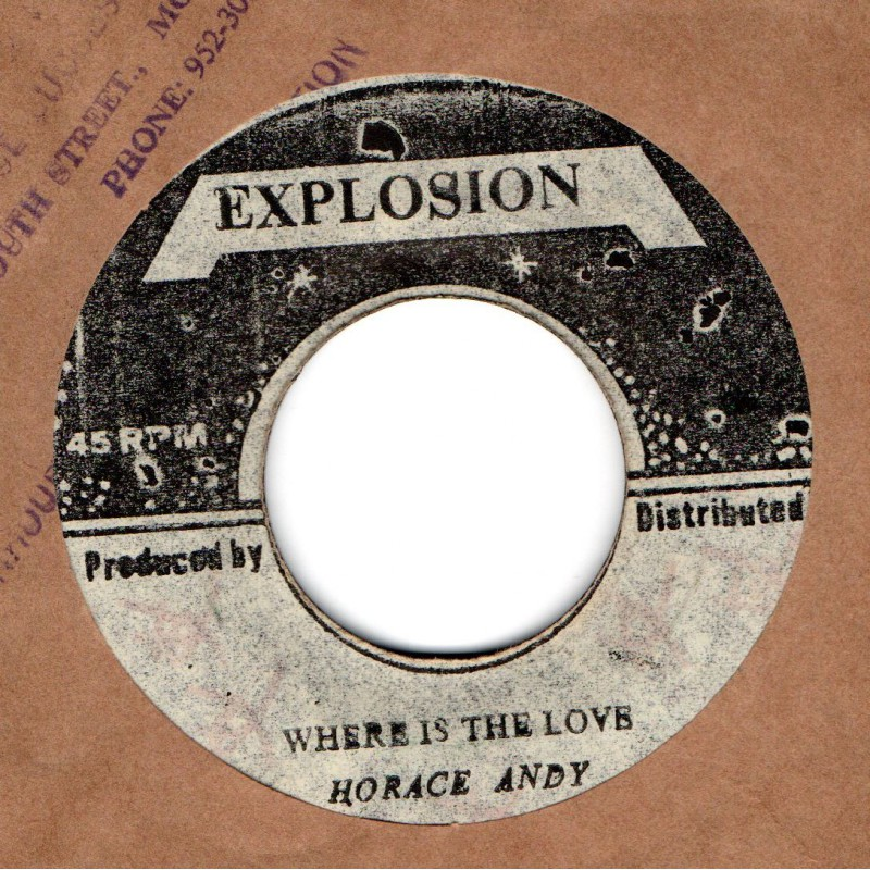 "(7"") HORACE ANDY - WHERE IS THE LOVE / U ROY - WET VERSION"