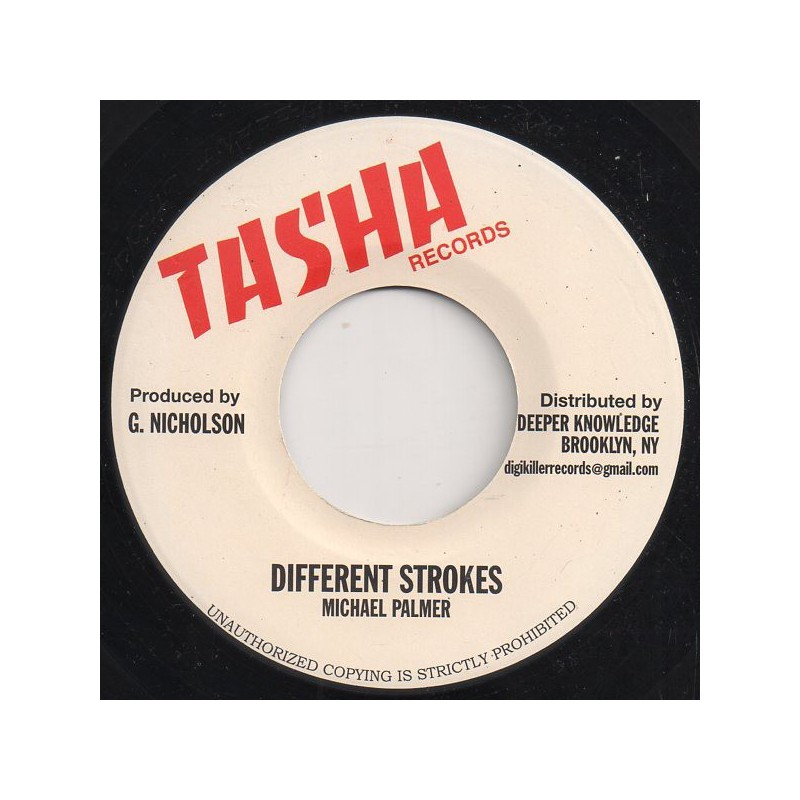 "(7"") MICHAEL PALMER - DIFFERENT STROKES / DUB"