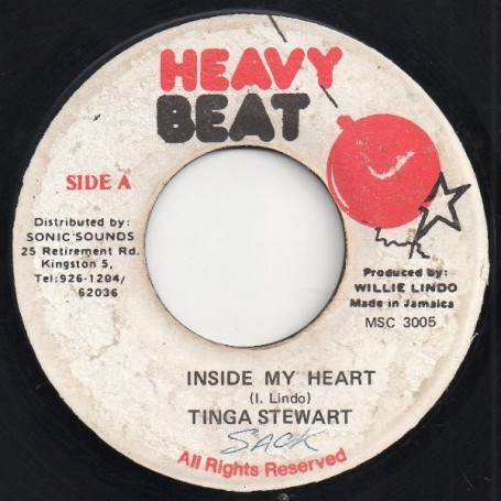 "(7"") TINGA STEWART - INSIDE MY HEART / VERSION"