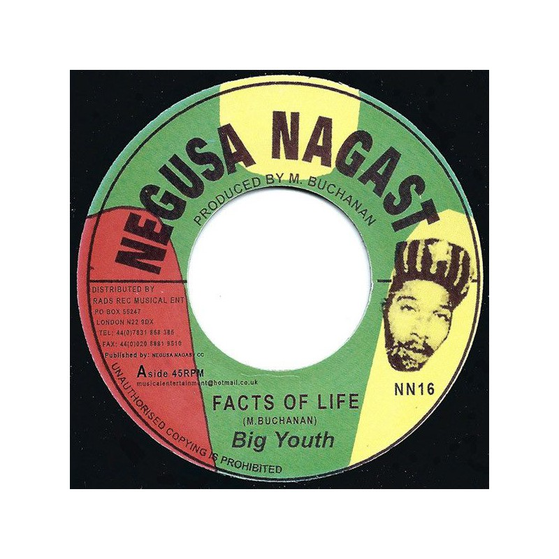 """(7"""") BIG YOUTH - FACTS OF LIFE / MEDICINE DOCTOR"""