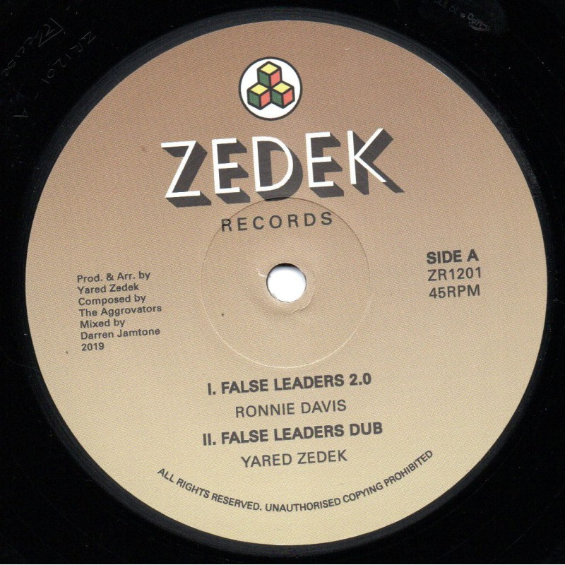 "(12"") RONNIE DAVIS - FALSE LEADERS 2.0 / MAXIM BUTLER - TRAVELING"