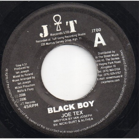 "(7"") JOE TEX - BLACK BOY / INSTRUMENTAL"