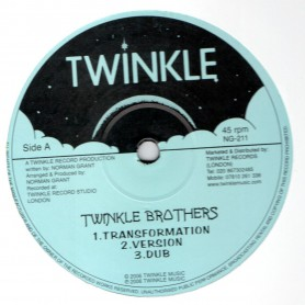 """(12"""") TWINKLE BROTHERS - TRANSFORMATION / AFRICA GET ENOUGH PUNISHMENT"""