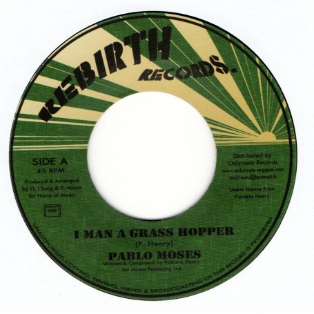 "(7"") PABLO MOSES - I MAN A GRASS HOPPER / VERSION"