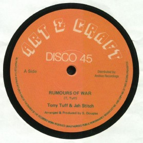 "(12"") TONY TUFF & JAH STITCH - RUMOURS OF WAR / ART & CRAFT PLAYERS - RUMOURS OF WAR VERSION"
