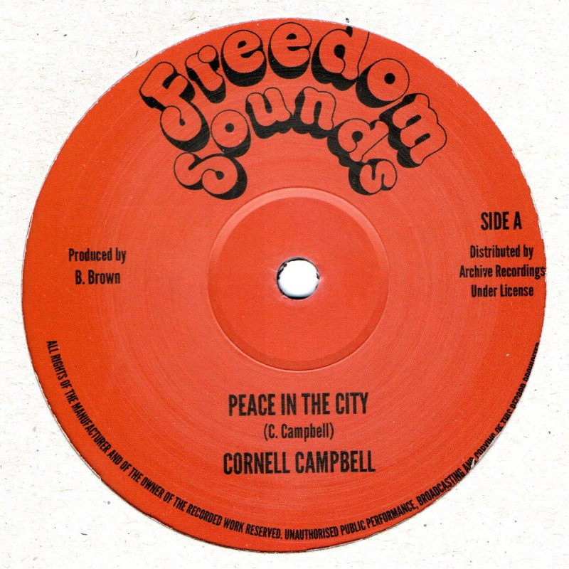 "(12"") CORNELL CAMPBELL - PEACE IN THE CITY / HIGH TIMES PLAYERS - PEACE INTHE CITY VERSION"