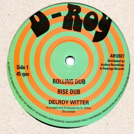 """(12"""") DELROY WITTER - ROLLING DUB / PAUL & DELROY - TALK IT OUT DUB"""
