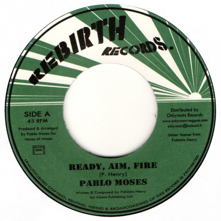 "(7"") PABLO MOSES - READY, AIM, FIRE / VERSION"