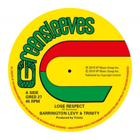 "(12"") BARRINGTON LEVY & TRINITY - LOSE RESPECT / ROMAN STEWART & TRINITY - SINCE YOU'RE GONE"
