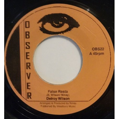 "(7"") DELROY WILSON - FALSE RASTA / HALFWAY UP THE STAIRS"
