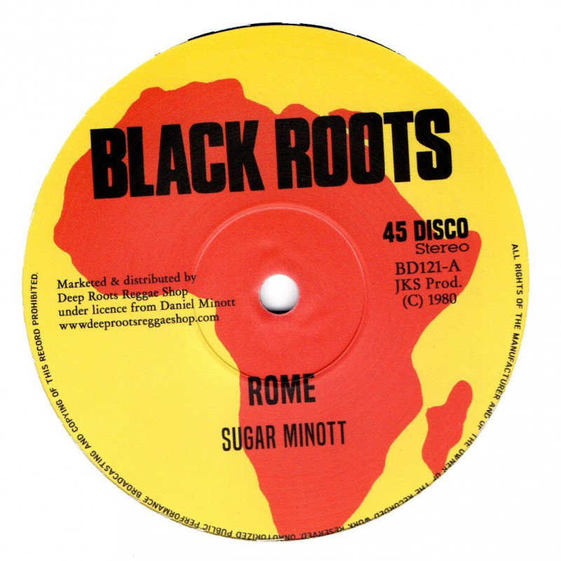 "(12"") SUGAR MINOTT - ROME / DEVON RUSSELL & BLACK ROOTS PLAYERS - LET SLEEPING DOGS LIE"