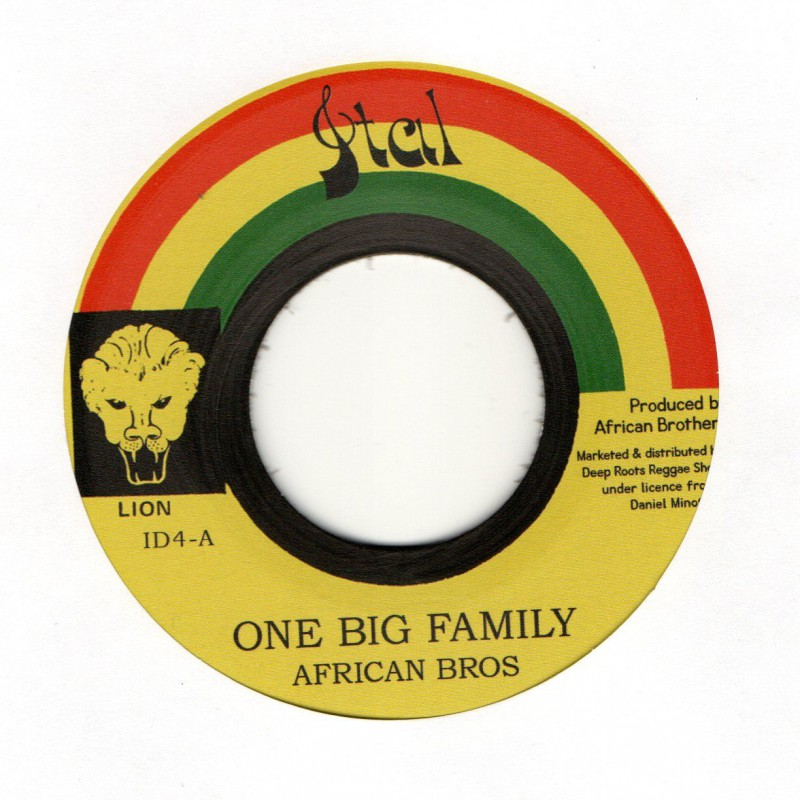 """(7"""") AFRICAN BROTHERS - ONE BIG FAMILY / VERSION"""