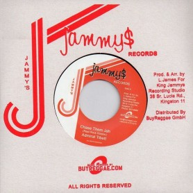 "(7"") ADMIRAL TIBET - CHASE THEM JAH / PAD ANTHONY - SERIOUS THING"