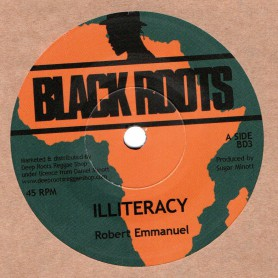 "(7"") ROBERT EMMANUEL - ILLITERACY / PROGRESS ROAD DUB"