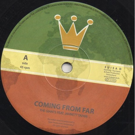 "(7"") GIANTS FEAT JAHNETT TAFARI - COMING FROM FAR / LIVITY DUB"