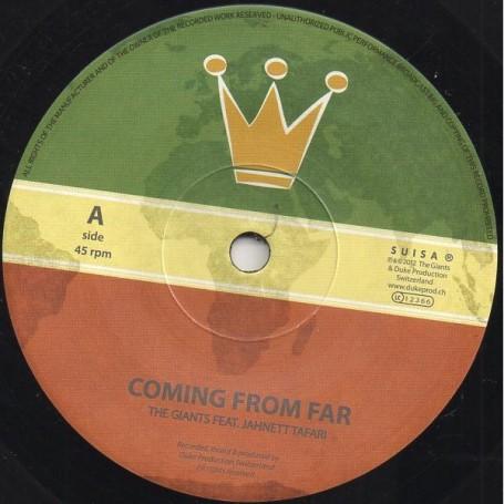 "(7"") GIANTS FEAT JAHNETT TAFARI - COMING FROM FAR / LIVITY DUB"