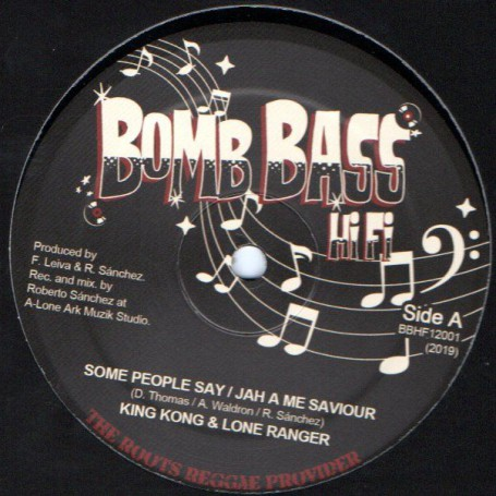 "(12"") KING KONG - SOME PEOPLE / LONE RANGER - JAH A ME SAVIOUS / LONE ARK RIDDIM"
