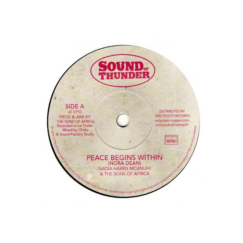 "(7"") NADIA HARRIS McANUFF - PEACE BEGINS WITHIN"
