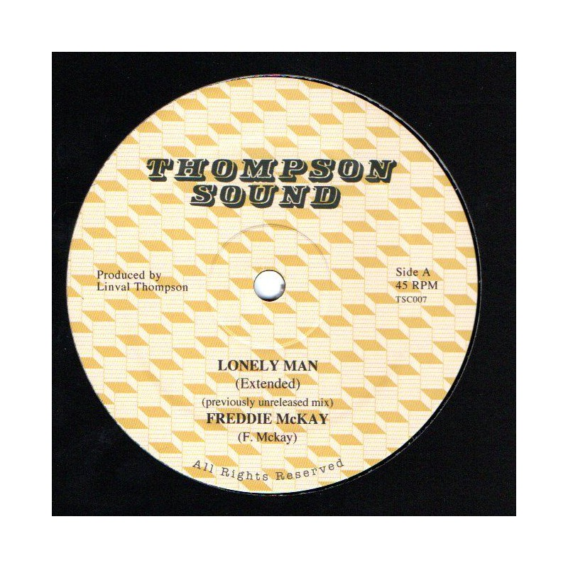 """(12"""") FREDDIE MCKAY - LONELY MAN (Extended) / LINVAL THOMPSON - JUMP FOR JOY (Extended)"""