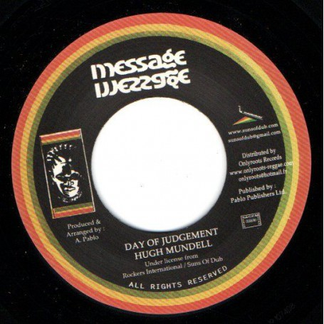 "(7"") HUGH MUNDELL - DAY OF JUDGEMENT / AUGUSTUS PABLO - JUDGEMENT DUB"