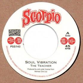 """(7"""") THE TEACHER - SOUL VIBRATION / VERSION"""
