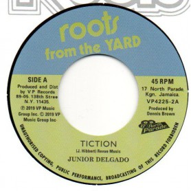 "(7"") JUNIOR DELGADO - TICTION / DEB MUSIC PLAYERS - TICTION (Version)"