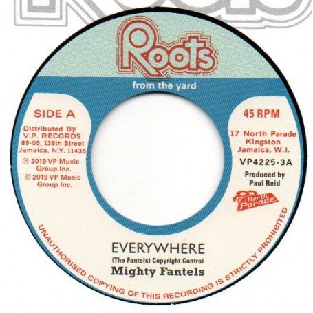 """(7"""") MIGHTY FANTELS - EVERYWHERE / THE REVOLUTIONARIES - EVERYWHERE (VERSION)"""